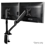 2 Arms Adjustable Monitor Screen Holder - Black