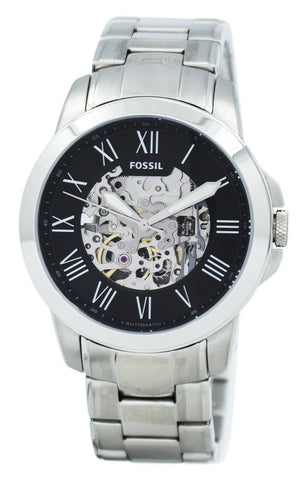 Fossil Grant Automatic Black Skeleton Dial ME3103 Men's Watch