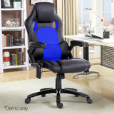 8 Point PU Leather Reclining Heated Massage Chair - Blue