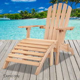 Gardeon Outdoor Wooden Beach Lounge Chair - Natural Wood