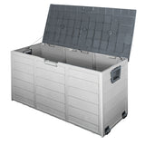 290L Plastic Outdoor Storage Box Container Weatherproof Grey