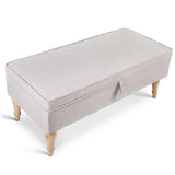 Multi-Functional Storage Ottoman Beige