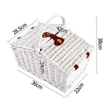 Alfresco Deluxe 2 Person Picnic Basket Set - Black and White