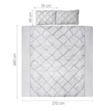 Giselle Bedding King Size Quilt Cover Set - Grey