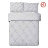 Giselle Bedding Queen Size Quilt Cover Set - Grey