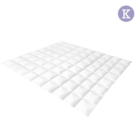 Duck Feather Down Quilt King White