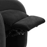 Linen Fabric Armchair Recliner Black