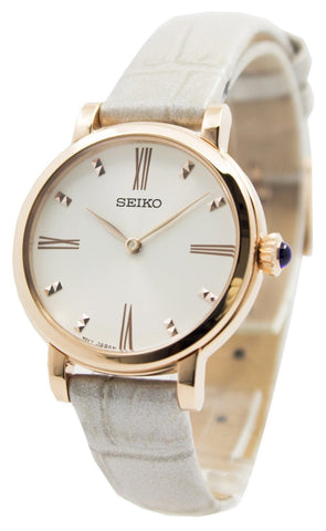 Seiko Quartz Leather Strap SFQ812 SFQ812P1 SFQ812P Women's Watch