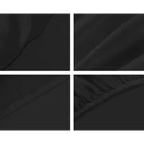Giselle Bedding Double Size 1000TC Bedsheet Set - Black