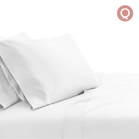 Giselle Bedding Queen Size 1000TC Bedsheet Set - White