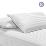 Giselle Bedding King Size 4 Piece Bedsheet Set - White