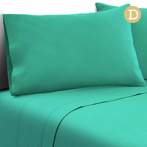 4 Piece Microfibre Sheet Set Double– Aqua