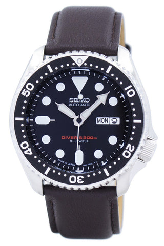 Seiko Automatic Diver's Ratio Dark Brown Leather SKX007J1-LS11 200M Men's Watch