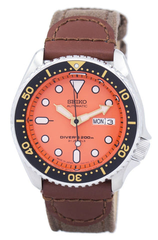 Seiko Automatic Diver's Canvas Strap SKX011J1-NS1 200M Men's Watch
