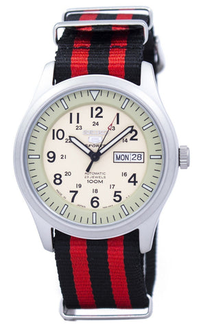Seiko 5 Sports Military Automatic Japan Made NATO Strap SNZG07J1-NATO3 Men's Watch