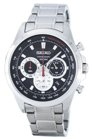 Seiko Chronograph Quartz Tachymeter SSB241 SSB241P1 SSB241P Men's Watch