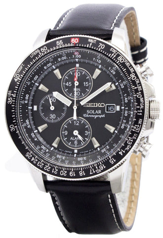 Seiko Pilot's Solar Chronograph Flightmaster SSC009P3 Men's Watch