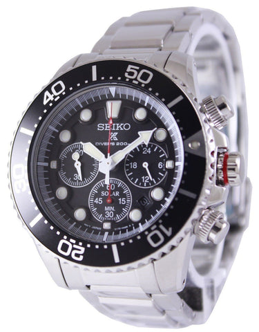 Seiko Solar Chronograph Divers SSC015 SSC015P1 SSC015P Men's Watch