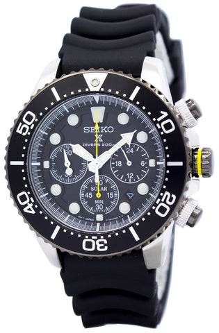 Seiko Solar Chronograph SSC021 SSC021P1 SSC021P Men's Watch