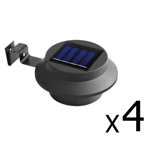 4 x Solar Gutter Light - Black