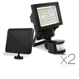 Set of 2  100 LED Solar Sensor Light