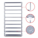 10 Tiers Stackable Shoe Storage Rack – 160cm
