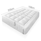 Bamboo Pillowtop Mattress Topper 5cm - King Single
