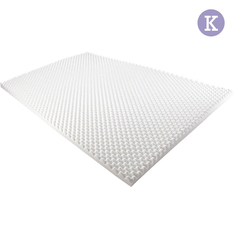 Deluxe Egg Crate Mattress Topper 5 cm Underlay Protector King