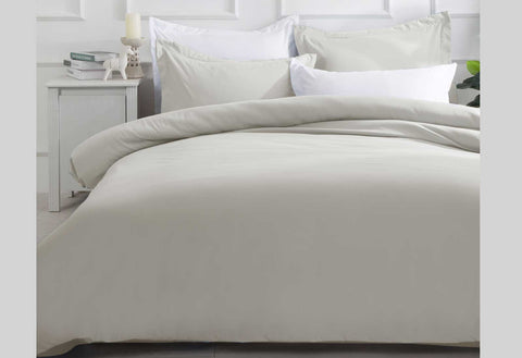 Super King Size Linen Color Quilt Cover Set (3PCS)