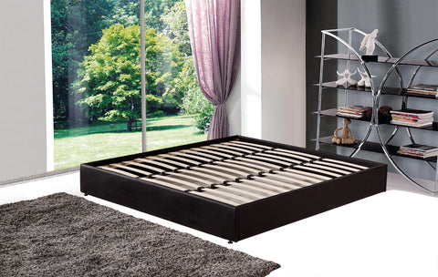 PU Leather King Bed Ensemble Frame