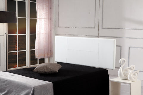 PU Leather Double Bed Headboard Bedhead - White