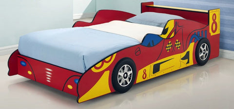 Red Racing Car Bed Kids Race