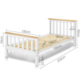 Pine Wood Single Size Bed Frame