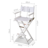 Artiss Tall Director Chair - White