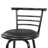 Set of 2 Swivel Bar Stool - BlacK