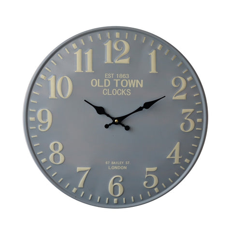 Embossed Number 15'' Metal Clock
