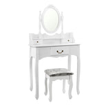 3 Drawer Dressing Table w/ Mirror White