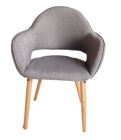Atlas Grey Fabric Chair Set of 2