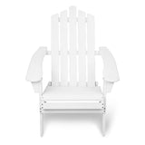 Adirondack Foldable Deck Chair - White