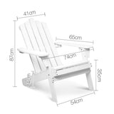 Adirondack Foldable Deck Chair & Side Table Set