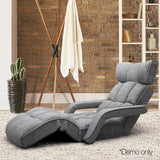 Adjustable Lounger with Arms – Grey