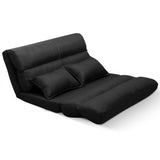 Adjustable Lounge Sofa - 5 positions Black