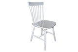 Simple Living Ari Rubberwood White Set of 2 Dining Chairs