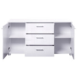 High Gloss Sideboard Storage Cabinet Cupboard White