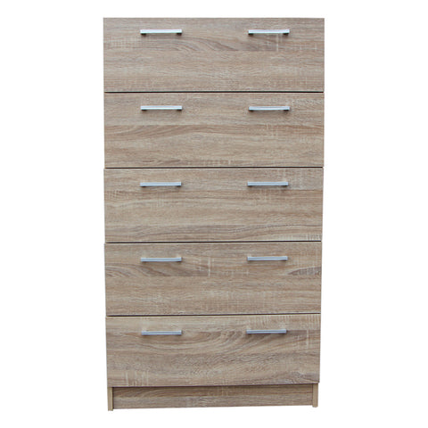 Tribecca 5 Drawer Chest - Oak Look