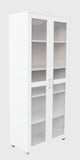 Aspen Double Door Storage Cupboard - White Cabinet