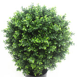 UV Resistant Artificial Topiary Shrub (Hedyotis) 70cm Mixed Green
