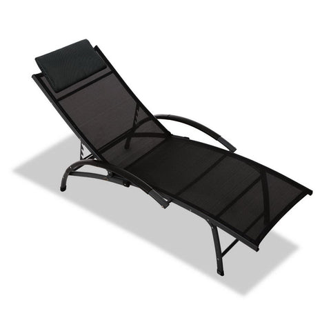 Gardeon Portable Reclining Lounge Chair - Black