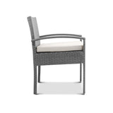 garden Outdoor Furniture Bistro Wicker Chair Grey