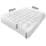 Pillowtop Mattress Topper Memory Resistant Protector Pad Cover King